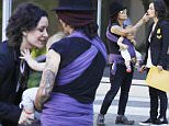 EXCLUSIVE: Talk hostSara Gilbert and wife singer Linda Perry with their baby son in Beverly Hills on September 24, 2015.\n\nPictured: Sara Gilbert and  Linda Perry \nRef: SPL1135670  240915   EXCLUSIVE\nPicture by: Mr Photoman / Splash News\n\nSplash News and Pictures\nLos Angeles: 310-821-2666\nNew York: 212-619-2666\nLondon: 870-934-2666\nphotodesk@splashnews.com\n