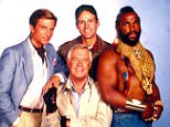 No Merchandising. Editorial Use Only. No Book Cover Usage... Mandatory Credit: Photo by Moviestore/REX Shutterstock (1646352a).. The A-Team,  Dirk Benedict,  George Peppard,  Dwight Schultz,  Mr T.. Film and Television.. ..