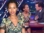 Mandatory Credit: Photo by Erik Pendzich/REX Shutterstock (5182681k)\n Kerry Washington\n 'The Late Show with Stephen Colbert', New York, America - 25 Sep 2015\n \n