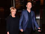 Hugh Jackman and his wife Deborra Lee Furness were the vision of the perfect happy couple as they stepped out in NYC on Thursday night. The smiling couple left Nobu restaurant in Midtown holding hands and laughing happily while talking to the paparazzi.  Pictured: Hugh Jackman, Deborra Lee Furness Ref: SPL1136397  240915   Picture by: 247PAPS.TV / Splash News  Splash News and Pictures Los Angeles: 310-821-2666 New York: 212-619-2666 London: 870-934-2666 photodesk@splashnews.com