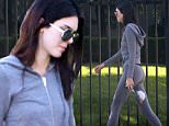 Please contact X17 before any use of these exclusive photos - x17@x17agency.com   Healthy lifestyle secrets of Kendall Jenner showing off a perfect body at gym and juice bar in LA sept 24, 2015 X17online.com