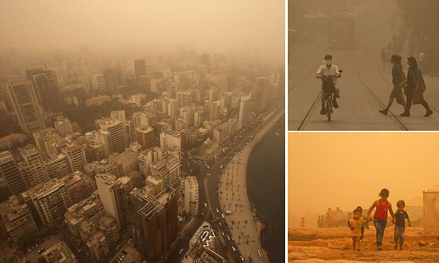 Sandstorm engulfs the Middle East killing eight people