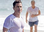 Rob Lowe takes a dip in the Pacific Ocean.  Rob was in Malibu to film tv show 'The Grinder', and decided to go for a swim in between shooting scenes.  Lowe wore a white t shirt and board shorts.\n\nPictured: Rob Lowe\nRef: SPL1136951  250915  \nPicture by: Splash News\n\nSplash News and Pictures\nLos Angeles: 310-821-2666\nNew York: 212-619-2666\nLondon: 870-934-2666\nphotodesk@splashnews.com\n