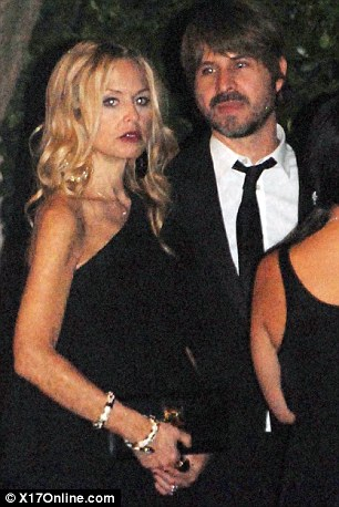 VIP guests: Celebrity stylist Rachel Zoe, who is pregannt with her first child, attended the ceremony with husband Rodger Berman