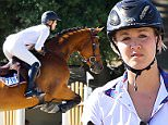 Pasadena, CA - After the announcement of plans to divorce husband Ryan Sweeting, Kaley Cuoco gets back in the saddle and takes out her new horse, Zaza out for some jumps.  Kaley looked like a pro jump through the course and looking to move on from the recent news of her split.\nAKM-GSI    September 26, 2015\nTo License These Photos, Please Contact :\nSteve Ginsburg\n(310) 505-8447\n(323) 423-9397\nsteve@akmgsi.com\nsales@akmgsi.com\nor\nMaria Buda\n(917) 242-1505\nmbuda@akmgsi.com\nginsburgspalyinc@gmail.com\n
