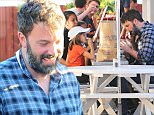 Picture Shows: Ben Affleck, Violet Affleck  September 26, 2015\n \n Actor, Ben Affleck, takes his kids, Violet, Seraphina, and Samuel out for lunch and some shopping at the Brentwood Country Mart in Brentwood, California. Despite separating from wife, Jennifer Garner, the pair have continued to do things as a family to make the divorce easy on their kids. \n \n Non-Exclusive\n UK RIGHTS ONLY\n \n Pictures by : FameFlynet UK © 2015\n Tel : +44 (0)20 3551 5049\n Email : info@fameflynet.uk.com