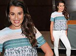 """LOS ANGELES, CA - SEPTEMBER 25:  Actress Lea Michele signs copies of her new book """"You First: Journal Your Way to Your Best Life"""" at Barnes & Noble bookstore at The Grove on September 25, 2015 in Los Angeles, California.  (Photo by Angela Weiss/Getty Images)"""
