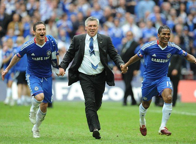 Ancelotti coached ex-England player Lampard during his time with Chelsea and together they won the FA Cup