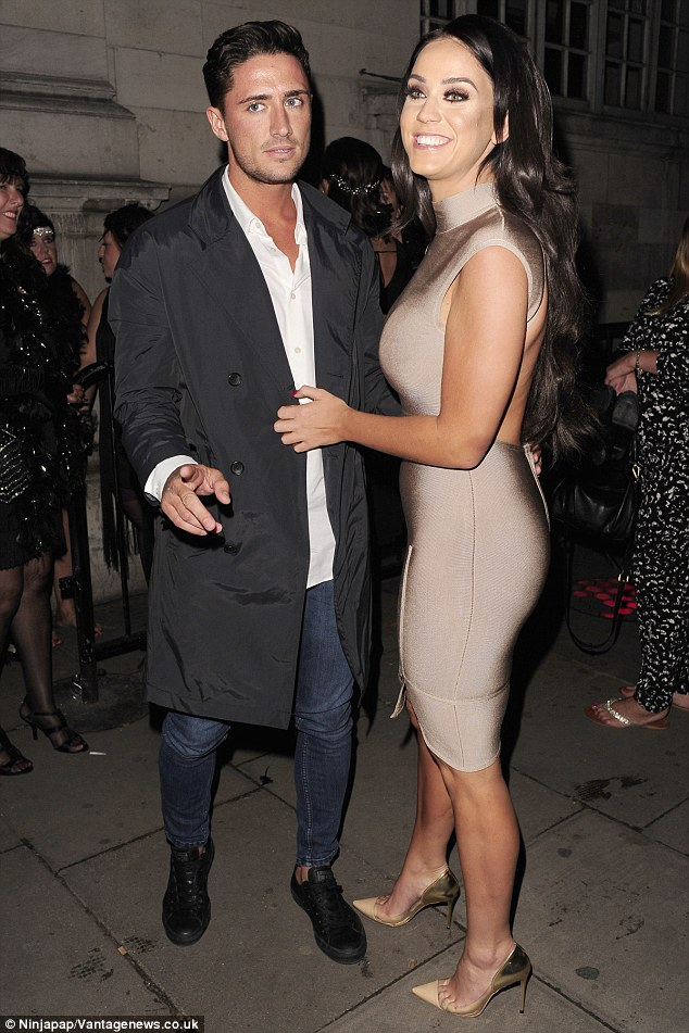 Loving the attention: Vicky and Stephen seemed carefree as they partied up a storm at the weekend
