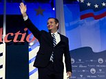 Republican presidential candidate Sen. Ted Cruz, R-Texas, waves to the crowd before he speaks, during the Values Voter Summit, held by the Family Research Council Action, Washington, Friday, Sept. 25, 2015. ( AP Photo/Jose Luis Magana)