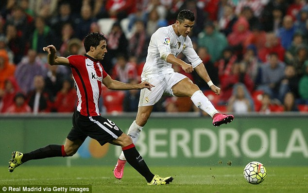 Ronaldo did not score as Real Madrid secured a hard-fought 2-1 away win at Athletic Bilbao on Wednesday