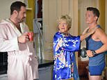 WARNING: Embargoed for publication until 00:00:01 on 29/09/2015 - Programme Name: EastEnders - TX: 05/10/2015 - Episode: 5149 (No. n/a) - Picture Shows: ***FORTNIGHTLIES PLEASE DO NOT USE (SOAP LIFE and ALL ABOUT SOAP).. Jason makes himself at home in the Vic.  Mick Carter (DANNY DYER), Elaine (MARIA FRIEDMAN), Jason (SCOTT NEAL) - (C) BBC - Photographer: Kieron McCarron
