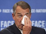 "Speaker of the House John Boehner (R-OH) talks with John Dickerson on ""Face the Nation"" in Washington, in this handout photo provided by CBS News September 27, 2015. REUTERS/CBS News/Chris Usher/Handout via Reuters ATTENTION EDITORS  - NO SALES. FOR EDITORIAL USE ONLY. NOT FOR SALE FOR MARKETING OR ADVERTISING CAMPAIGNS. THIS IMAGE HAS BEEN SUPPLIED BY A THIRD PARTY. IT IS DISTRIBUTED, EXACTLY AS RECEIVED BY REUTERS, AS A SERVICE TO CLIENTS"