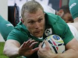 Ireland's wing Keith Earls  scores their second try  during a Pool D match of the 2015 Rugby World Cup between Ireland and Romania at Wembley stadium, north London, on September 27, 2015. AFP PHOTO / ADRIAN DENNIS RESTRICTED TO EDITORIAL USE, NO USE IN LIVE MATCH TRACKING SERVICES, TO BE USED AS NON-SEQUENTIAL STILLSADRIAN DENNIS/AFP/Getty Images