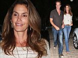 Please contact X17 before any use of these exclusive photos - x17@x17agency.com   Cindy Crawford and Randy Gerber have a late night out att Cafe Habana in Malibu sept 26, 2015  X17online.com