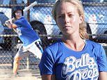 Picture Shows: Kendra Wilkinson  September 26, 2015\n \n Kendra Wilkinson and Hank Baskett are seen playing a softball game for their team 'Ballz Deep' in Los Angeles, California. Kendra hit a home run during one of her at bats. \n \n Non Exclusive\n UK RIGHTS ONLY\n \n Pictures by : FameFlynet UK © 2015\n Tel : +44 (0)20 3551 5049\n Email : info@fameflynet.uk.com