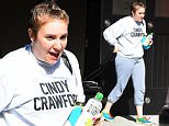 Lena Dunham wears a Cindy Crawford sweatshirt and no makeup in Brooklyn\n\nPictured: Lena Dunham\nRef: SPL1137219  260915  \nPicture by: Splash News\n\nSplash News and Pictures\nLos Angeles: 310-821-2666\nNew York: 212-619-2666\nLondon: 870-934-2666\nphotodesk@splashnews.com\n