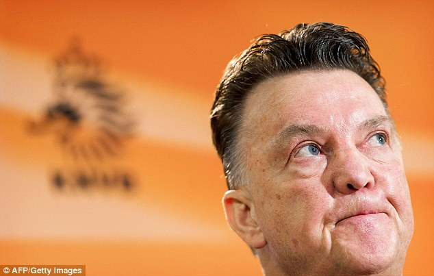 Looking ahead: Holland manager Louis van Gaal is set to take over at Spurs after the World Cup