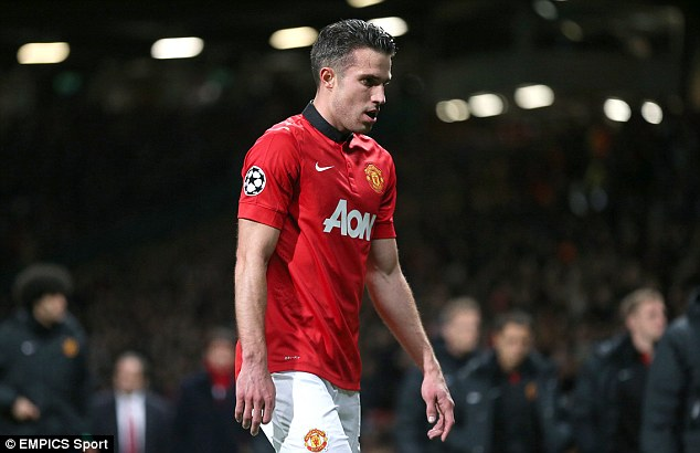 Heading for the exit? Manchester United's injured hat-trick hero Robin van Persie