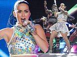 RIO DE JANEIRO, BRAZIL - SEPTEMBER 27: Katy Perry performs at 2015 Rock in Rio on September 27, 2015 in Rio de Janeiro, Brazil. (Photo by Raphael Dias/Getty Images)