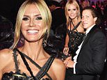 MILAN, ITALY - SEPTEMBER 26:  Heidi Klum and Vito Schnabel are seen at amfAR Milano 2015 at La Permanente on September 26, 2015 in Milan, Italy.  (Photo by Venturelli/Getty Images for amfAR)
