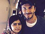 David Beckham with Malala