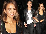 Hollywood, CA - Hollywood power couple Jessica Alba and Cash Warren enjoy a romantic night out at Katsuya without their kids.   The two wore matching outfits as they were spotted exiting the fine dining establishment in Hollywood. \n  \nAKM-GSI       September 26, 2015\nTo License These Photos, Please Contact :\nSteve Ginsburg\n(310) 505-8447\n(323) 423-9397\nsteve@akmgsi.com\nsales@akmgsi.com\nor\nMaria Buda\n(917) 242-1505\nmbuda@akmgsi.com\nginsburgspalyinc@gmail.com