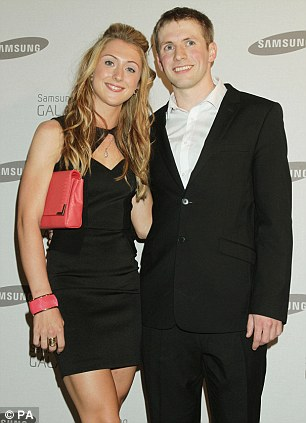 Date night: Olympic couples Laura Trott and Jason Kenny (L) and Emily Pidgeon and Andrew Osagie