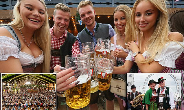 Lederhosen, low-cut blouses and gallons of beer! Six million people expected to pack out