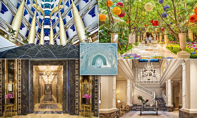 From The Bellagio to Jumeirah's Burj Al Arab, the world's most spectacular hotel lobbies
