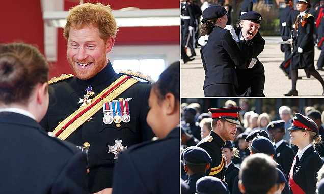Prince Harry on why he joined the forces as flies in to surprise students at military