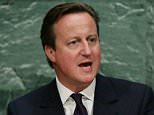 epa04953602 British Prime Minister David Cameron,  delivers his address during the United Nations Sustainable Development Summit which is taking place for three days before the start of the 70th session General Debate of the United Nations General Assembly at United Nations headquarters in New York, New York, USA, 27 September 2015.  EPA/JUSTIN LANE