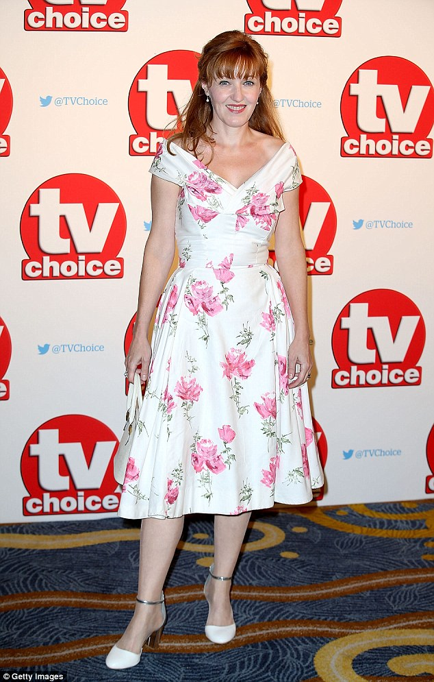 Familiar face: Former EastEnders star Kacey Ainsworth turned up the star-studded night in a pretty floral number