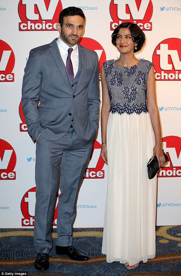 ON-screen lovers:Davood Ghadami and Rakhee Thakrar looked smart in their fancy attire