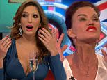 "****Ruckas Videograbs****  (01322) 861777\n*IMPORTANT* Please credit Channel 5 for this picture.\n23/09/15\nCelebrity Big Brother's Bit On The Side (2015) - last night (22/09/15), Channel 5\nSEEN HERE: Grabs of Aisleyne and Farrah before their fight, where they argued as Vicki Michelle sat between them. Aisleyne called Farrah a ""silly little girl"" adding she ""nasty"" and told her to ""f*ck off"". Farrah then mocked Aisleyne for only appearing on the normal Big Brother. Rylan mopped his brow after things got heated.\nGrabs leading up to last night's broadcast being suspended after it is alleged Aisleyene Horgan-Wallace threw a champagne glass at Farrah Abraham. The footage saw Farrah saying ""Hag, be quiet"" before Aisleyne reached for her glass of Champagne. The show then was briefly suspended, with viewers left watching a CBB graphic. Host Rylan Clark then returned and said they unfortunately had to lose the panel. It is reported that panelist Vicki Michelle was injured following the inci"