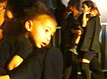 Please contact X17 before any use of these exclusive photos - x17@x17agency.com   Two nights in a row! Kim Kardashian and daughter dressed up Nori attending Kanye's concert at the Hollywood Bowl saturday night sept 26, 2015 X17online.com