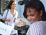 Picture Shows: Christina Milian  September 25, 2015\n \n Singer Christina Milian is all smiles while shopping in West Hollywood, California. Christina, who is turning 34 tomorrow, was starting the celebrations early with a few gifts for herself.\n \n Non-Exclusive\n UK RIGHTS ONLY\n \n Pictures by : FameFlynet UK © 2015\n Tel : +44 (0)20 3551 5049\n Email : info@fameflynet.uk.com
