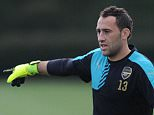 ST ALBANS, ENGLAND - SEPTEMBER 28: David Ospina of Arsenal during a training session at London Colney on September 28, 2015 in St Albans, England. (Photo by Stuart MacFarlane/Arsenal FC via Getty Images)