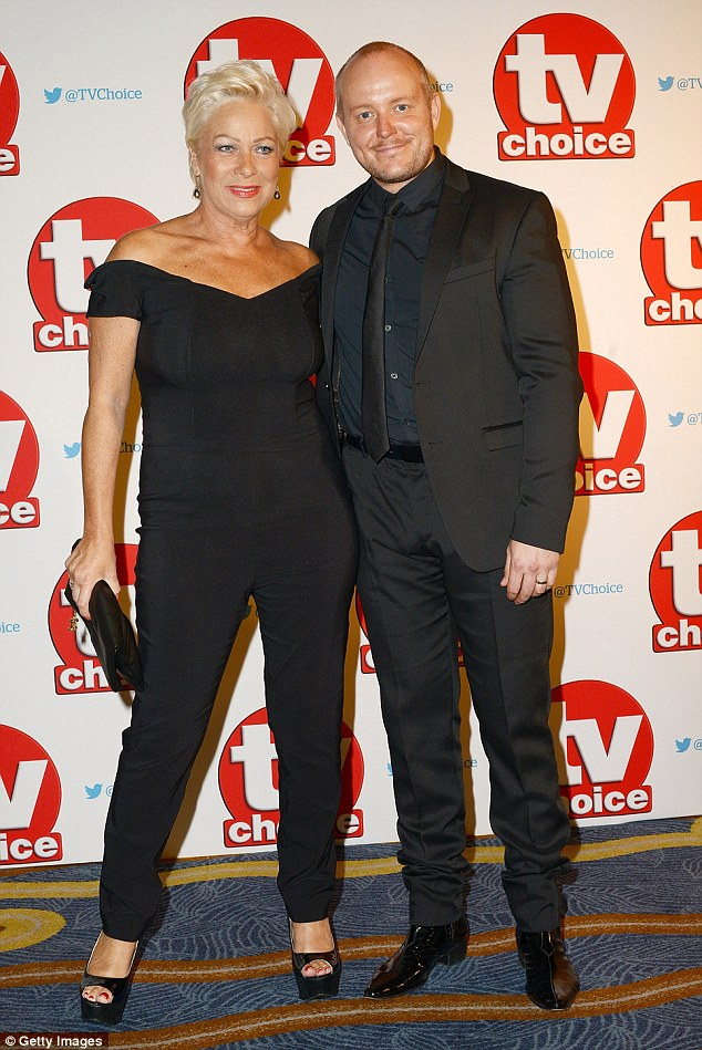 Both in black:Denise Welch and husband Lincoln Townley matched in black