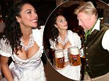 MUNICH, GERMANY - SEPTEMBER 26: Lilly Becker  wearing a Claudia Effenberg dirndl, and her husband Boris Becker during the Oktoberfest 2015 at Kaeferschaenke at Theresienwiese on September 26, 2015 in Munich, Germany.  (Photo by Gisela Schober/Getty Images)