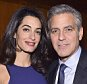 Barrister Amal Clooney and actor George Clooney attend the 100 LIVES initiative to express gratitude to the individuals and institutions whose heroic actions saved Armenian lives during the Genocide 100 years ago in New York, America.  The program, led by Ruben Vardanyan, Vartan Gregorian and Noubar Afeyan, establishes the Aurora Prize for Awakening Humanity as a means to empower modern-day saviors. During the event, the group reiterated the need to combat genocide and advance human rights efforts on March 10, 2015 in New York City.   NEW YORK, NY - MARCH 10:  (Photo by Mike Coppola/Getty Images for 100 LIVES)