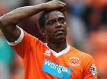 Blackpool's Nile Ranger looks dejected during the game against Norwich City