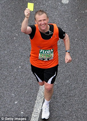 At least it's not red: Graham Poll at the 2008 race