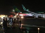 Plane Makes Emergency Landing at JFK, Sparks Brake Fire  An Aer Lingus plane had to return to Kennedy Airport to make an emergency landing Monday evening when it experienced problems with its hydraulics on one of its brakes, authorities say.  The Boeing 757 had taken off for Shannon, Ireland just after 7 p.m. when it reported a hydraulic failure, as well as landing gear door problems and no flaps, the Port Authority said.
