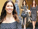 Mandatory Credit: Photo by Startraks Photo/REX Shutterstock (5189178v)\n Jessica Biel\n 'Good Morning America' TV show, New York, America - 28 Sep 2015\n \n