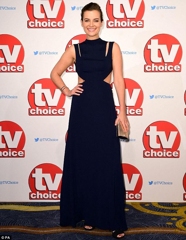 Dressed to impress: Camilia Arfwedson cut a striking figure in a black cut-out gown