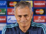 Chelsea manager Jose Mourinho attends a press conference at FC Portoís Dragao stadium in Porto, Portugal, Monday, Sept. 28, 2015. Chelsea will play Porto on Tuesday in a Champions League Group G soccer match. (AP Photo/Paulo Duarte)