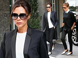 Victoria Beckham steps out in coordinated black-and-white outfit in NYC  Pictured: Victoria Beckham Ref: SPL1137686  270915   Picture by: XactpiX/splash  Splash News and Pictures Los Angeles: 310-821-2666 New York: 212-619-2666 London: 870-934-2666 photodesk@splashnews.com