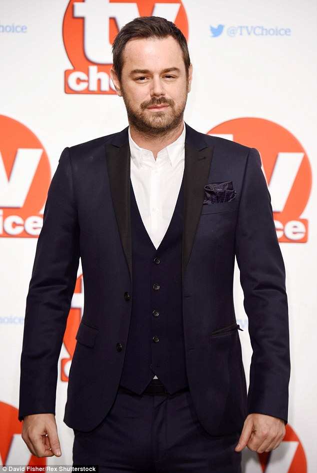 Very handsome:EastEnders stars Danny Dyer, who is up forbest soap actor, was on fine form