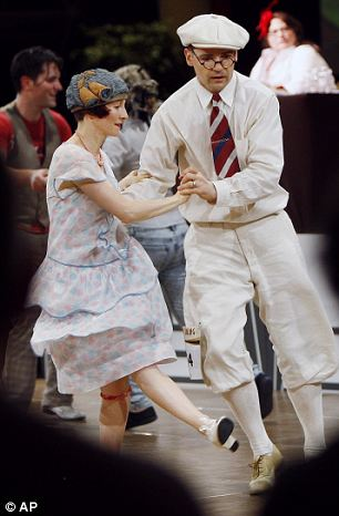Back in time: New Yorkers Heidi Rosenau and Joe McGlynn in his plus-fours show their moves in Swing Dance-Off competition